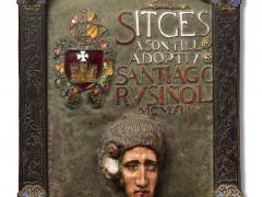 Placa homenatge de Sitges a Santiago Rusiñol, 1913