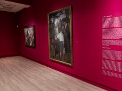 Imatge de la sala on s'exposa 'La partició del vi' a l'exposició de Zuloaga a la Fundació Mapfre de Madrid