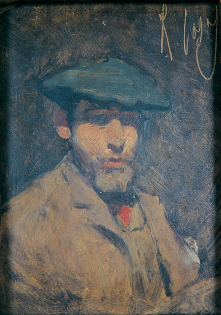 Autoretrat amb boina blava i xalina, Ramon Casas (c. 1886)