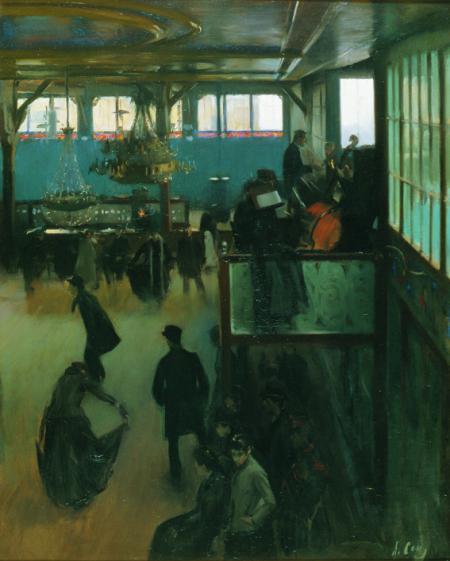 Ball al Moulin de la Galette, Ramon Casas (1890-91)