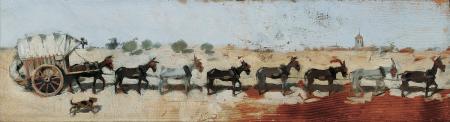 Carro amb vuit mules de tir, Ramon Casas (1889)