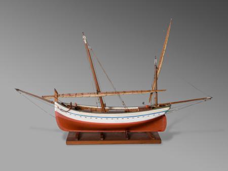 Model de barca de mitjana, Isabel (Model of small boat, Isabel)