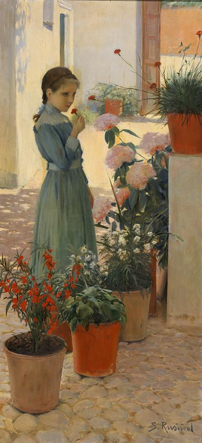 The girl with the clavellina (Teresa Mirabent Planas)