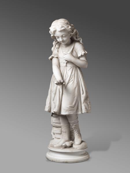 Nena amb un ocellet
