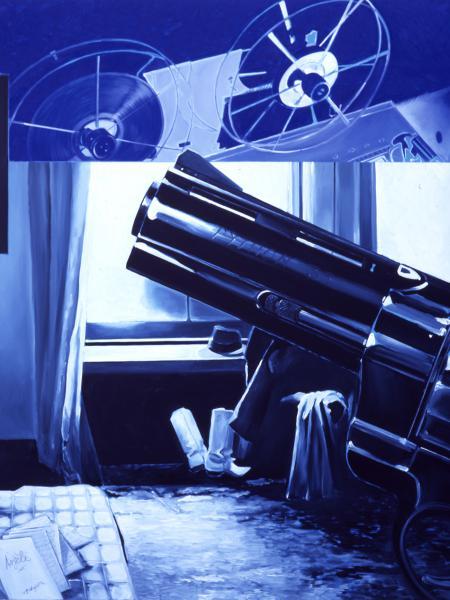 Folie de femme num. 7, de Jacques Monory (2006), oli sobre tela de 150 x 230 cm