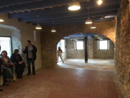 Interiors de Can falç, durant l'acte celebrat el Dia Internacional dels Museus
