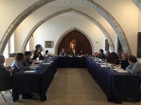 Reunió del Consell Executiu del CPS al Museu de Maricel, el 4 d'abril, on s'ha presentat la Memòria