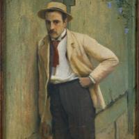 Repte per a fer a casa. Retrat del pintor Ricard Planells. Santiago Rusiñol. 1893-1895