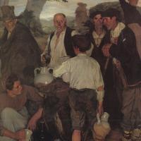 'La partició del vi', d'Ignacio Zuloaga (1900)