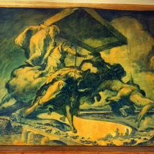 El miracle de Santa Genoveva (1916), de Josep Maria de Sert, que evoca la mobilització dels taxis de París cap al camp de batalla del Marne el 1914