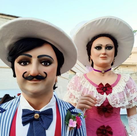 Imatge dels Gegants Americanos de Sitges