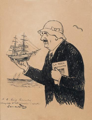 Caricature of Emerencià Roig