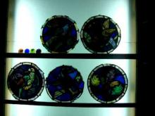 Restauració de vitralls del Cau Ferrat